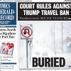 Snow storm front page
