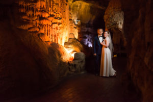 Wedding inside Howe Caverns